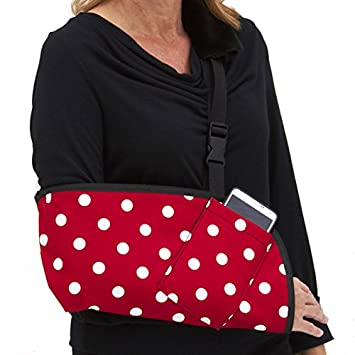 20ff6583a674b4 CastCoverz! Slingz! Designer Arm Sling in Minnie Dots - Medium Right Arm  with Cell