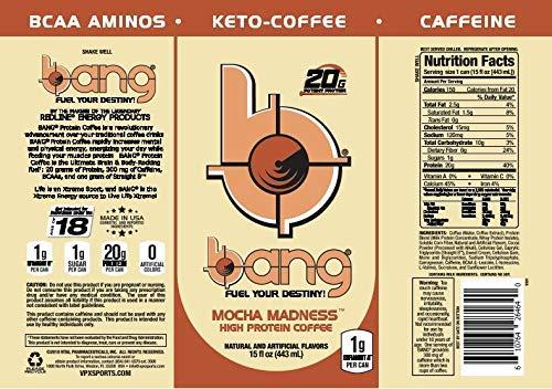 Bang Keto Coffee 15 Ounce Cans (Mocha)