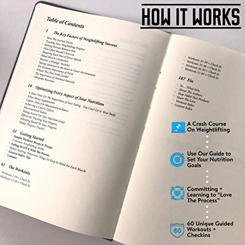 Habit Nest The Weightlifting Gym Buddy Journal. A 12-Week Personal Training Program in A Journal, with Workout and Exercise Journal/Log. Your Ultimate Fitness Planner. by Habit Nest (Image #1)