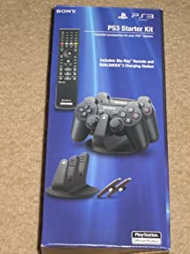 Sony PS3 PlayStation 3 Starter Kit (Includes Sony Blu-Ray Remote and DUALSHOCK 3 Charging Station)