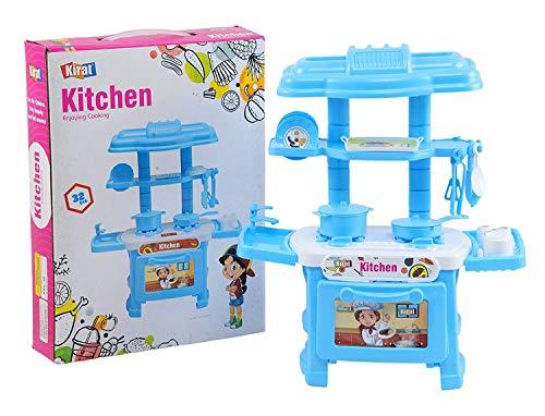 TRUVENDOR ENTERPRISES Plastic Kitchen Set Toy for 3 Years Plus Kids (Multicolour) – 32 Pieces