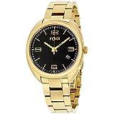 Reloj Fendi Womens, esfera negra, reloj de pulsera de acero inoxidable F211431000XG (Certified Refurbished)