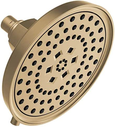 Brizo 87476 Gl Invari H2okinetic Round Multi Function Showerhead Luxe Gold 1 75 Gpm