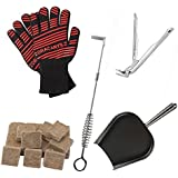 Dracarys Grill Starter Kit with Grill Gripper, Ash Pan and Tool, Fire Starter and Grill Gloves Works for Big Green Egg Kamado Joe Primo Weber and Other Grills