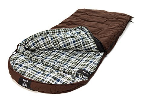 Grizzly +0 Degree Canvas Sleeping Bag (Dark Brown) (Canvas Sleeping Bag Degree)