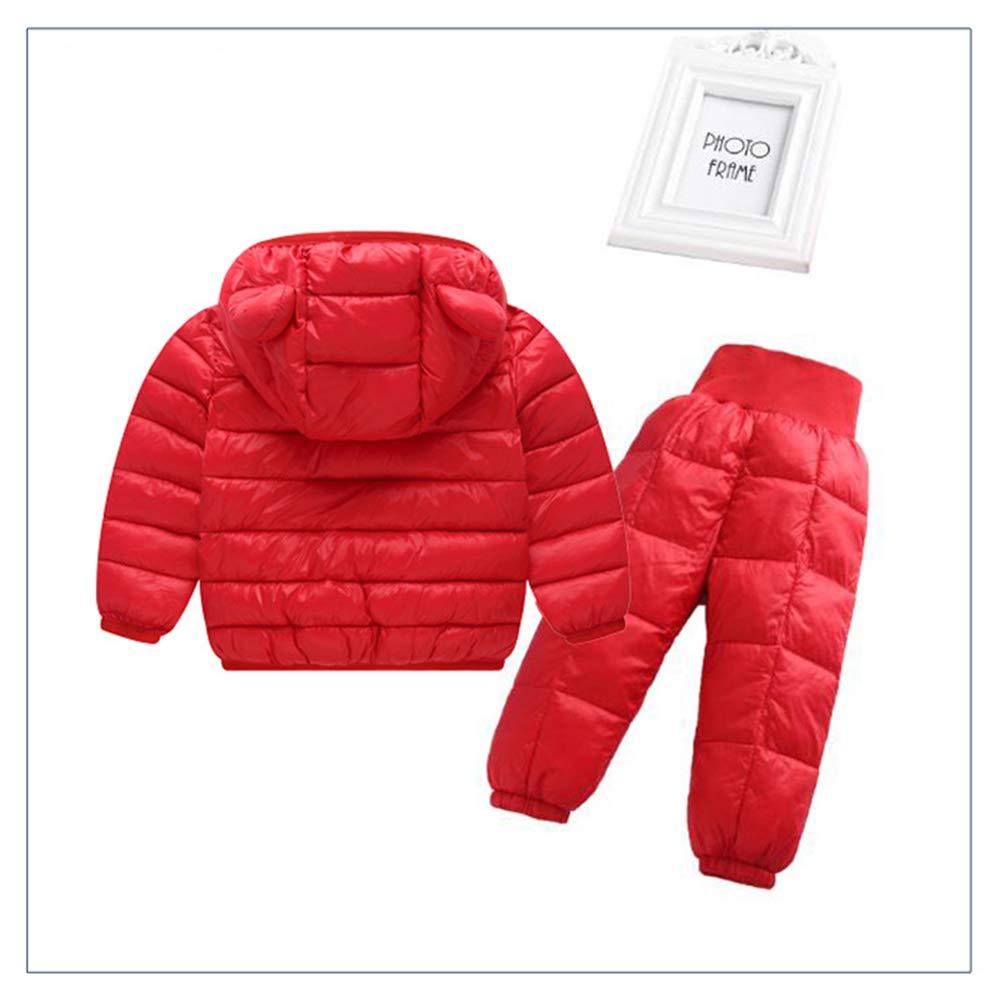 BOZEVON Kids Snowsuit-Hoodie Coat with Snowpants 2 Piece Set