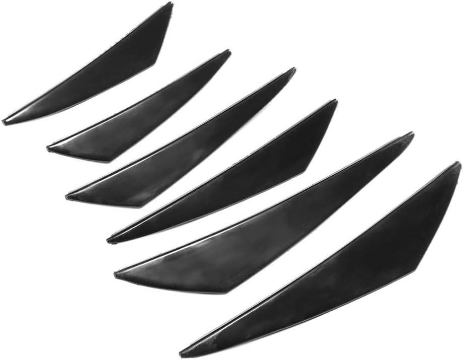 Tira de protecci/ón lateral de parachoques de coche 6 piezas de parachoques labio protector contra ara/ñazos Splitter Deflector Spoiler Pin Panel