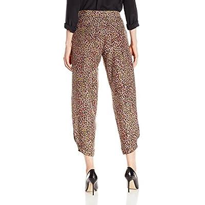 Lark & Ro Women's Cropped Soft Pant, Animal Print, Medium: Clothing