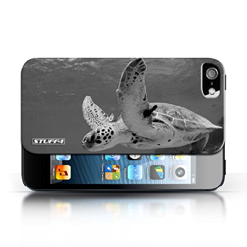 Kobalt® protector duro de nuevo caso / cubierta para el Apple iPhone 5/5S   Tortuga Diseño   Animales de zoológico mono colección