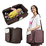 Cot with Changing Unit Insular 2 in 1 Baby Cot Outdoor Multifunctional Diaper Bag- Diaper Bag Backpack