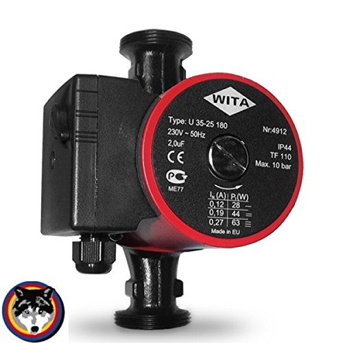 Grundfos Heizungspumpe WITA U 35-25 180mm 25-4 Wilo 3,00 m Solar Pumpe