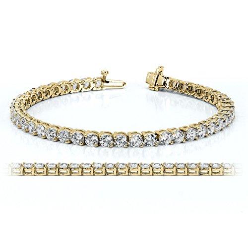 Round Cubic Zirconia Tennis Bracelet - 7