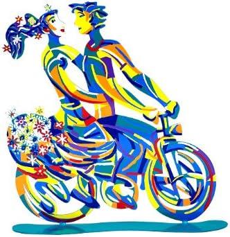 World Of Judaica David Gerstein Spring Ride Bike Rider Sculpture