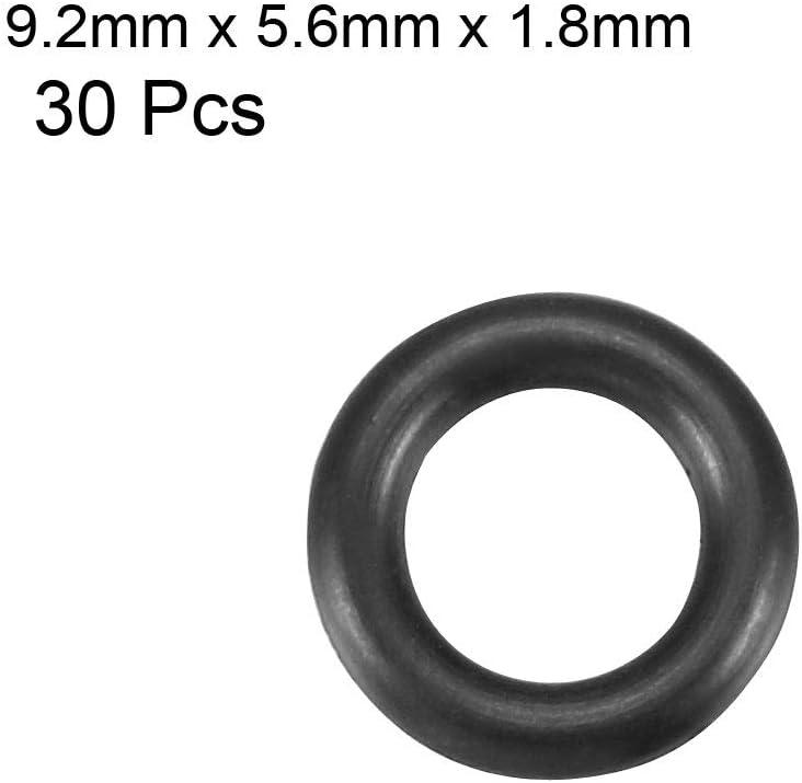 Metric Buna-N Sealing Gasket sourcing map Nitrile Rubber O-Rings 9.2mm OD 5.6mm ID 1.8mm Width Pack of 30