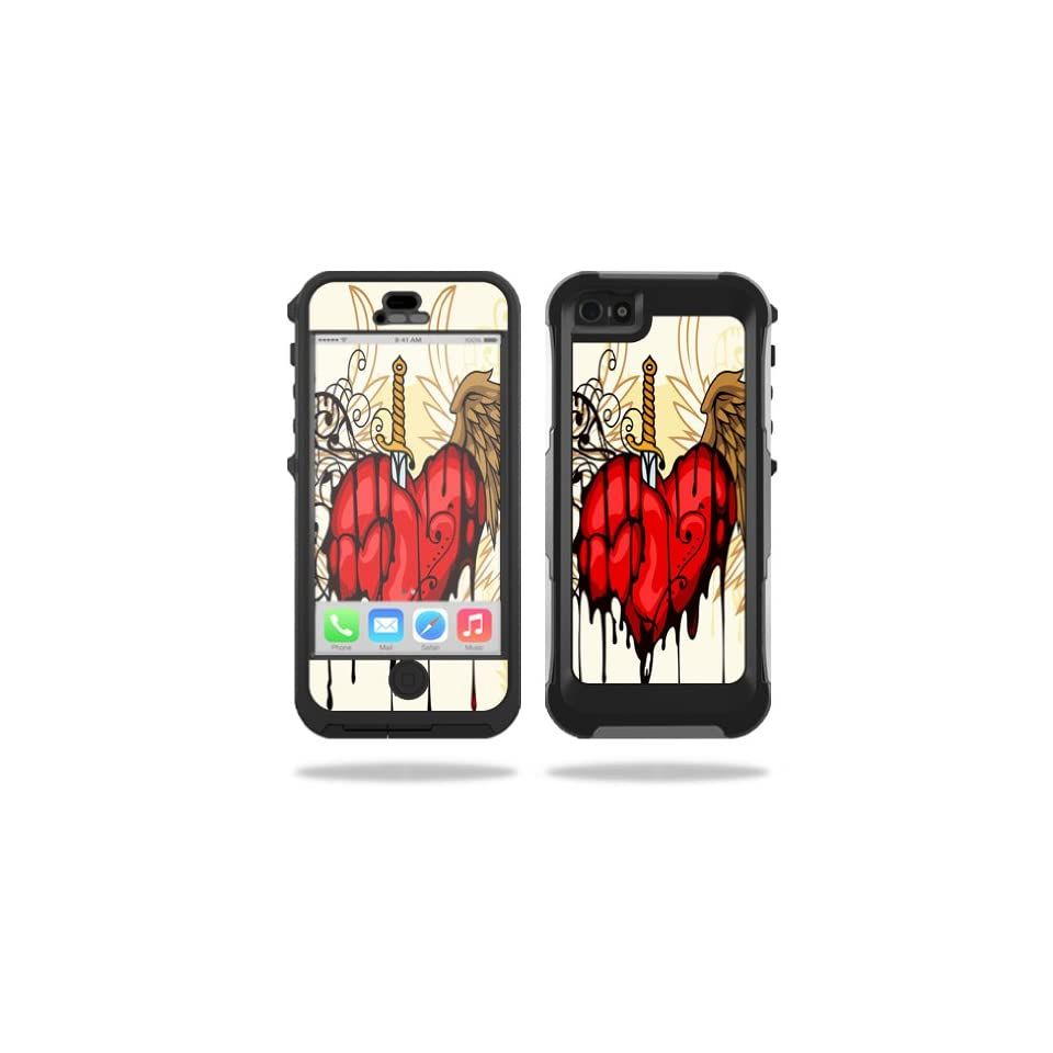 Mightyskins Protective Vinyl Skin Decal Cover for OtterBox Preserver iPhone 5 / 5S Case wrap sticker skins Stabbing Heart