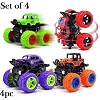 Shade of Toys Friction Powered Monster Rock Cars Unbreakable with Big Rubber Tires (Multicolor)