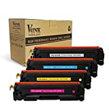 V4INK 4 Pack New Replacement for Canon 045H Toner Cartridge for use with Canon Color imageCLASS MF634Cdw, LBP612Cdw, MF632Cdw