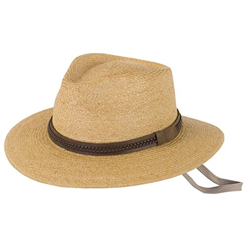 Tilley Unisex Medium Brim Raffia Fedora, Xlarge, Natural