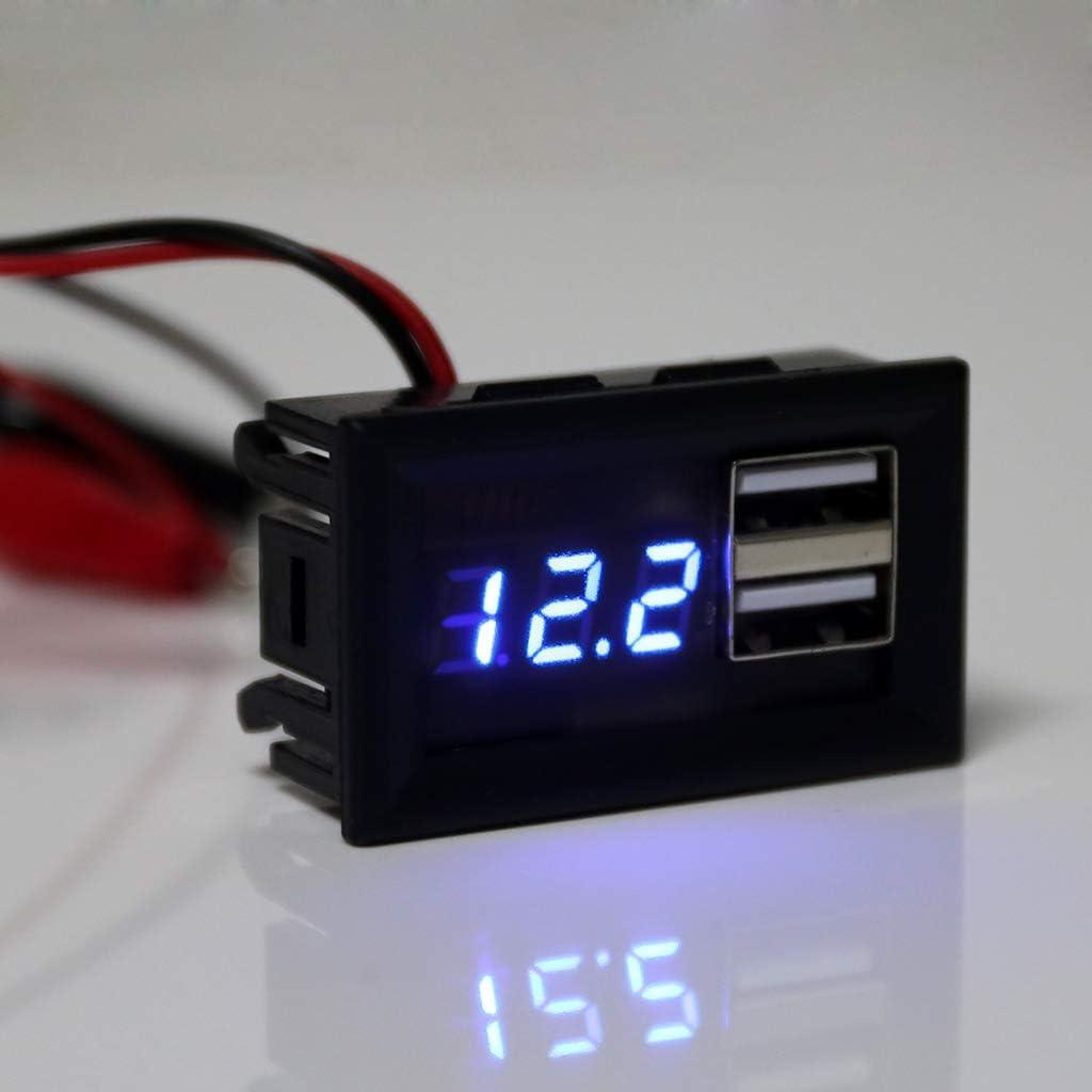 siwetg con Uscita USB QC 2.0 3.0 Misuratore di capacit/à della Batteria 12 V