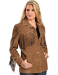 Women's Boar Suede Fringe Jacket - L74-81