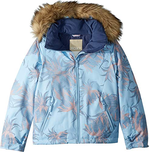 Roxy Little American Pie Snow Jacket, Powder Blue_SWELL Flowers Girl, 8/S