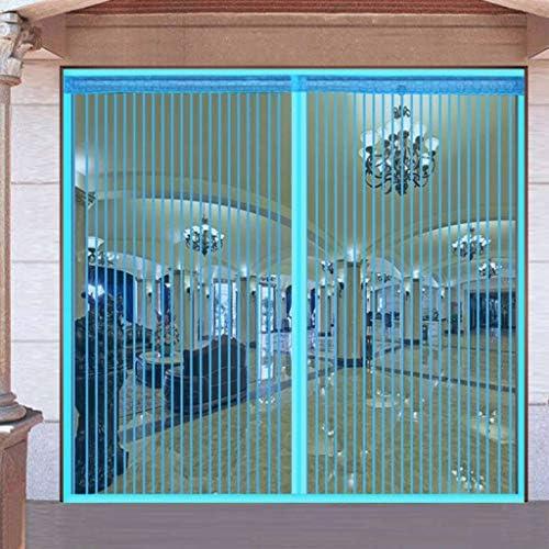Grande Cortina Mosquitera Magnética Para Puertas, Mosquitera Puerta Magnetica Apagar Automáticamente Sin Taladrar Dormitorio Con Balcón Cortina De Puerta-azul-90x210cm(35x83inch): Amazon.es: Bricolaje y herramientas