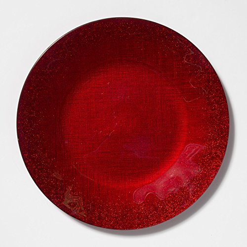 Vietri Glitter Glass Red Service Plate/Charger