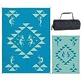 Reversible Mats 169124 Turquoise/Blue/Green 9-Feet x12-Feet Kokopelli Mat