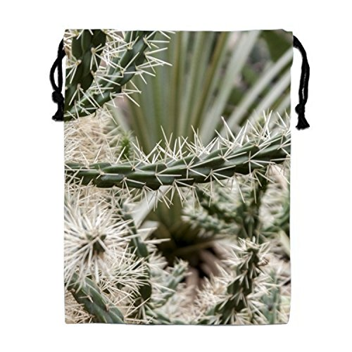 Cactus Tapestry Wall Hanging Drawstring Bags Waterproof Party Favors Pouch Tote Bag For Women ()
