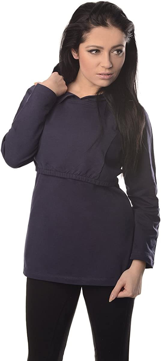 Purpless Maternity Pregnancy and Nursing Hoodie Top for Pregnant Breastfeeding Woman 9051