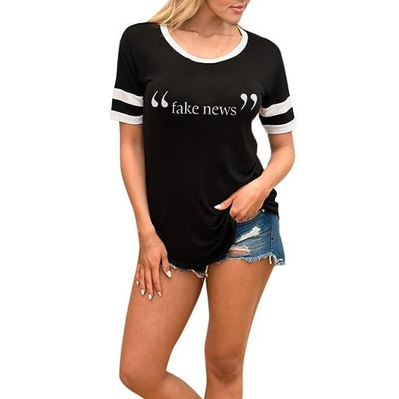 WINWINTOM Blusas y Camisas de Mujer, Verano Casual Camisetas y Tops, Moda Dama O
