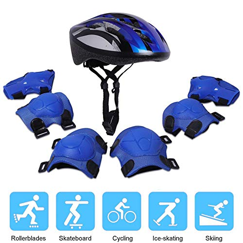 - Helmets for Kid Sports Safety Protective Gear Set with Knee Pads/ Elbow Pads / Wrist Guard for 3-8 Years Toddler Bicycle Skateboard Skating Scooter Cycling Riding