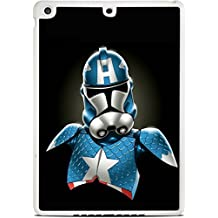 Captain America StormTrooper Art White iPad Air Silicone Case by MWCustoms