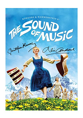 (Engravia Digital The Sound of Music Reproduction Signed Film Poster Starring Julie Andrews A4 Print(Unframed))