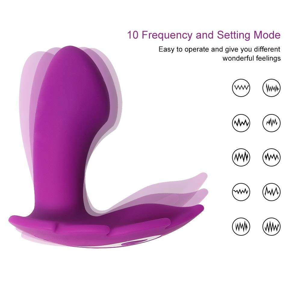 PPYTLOVE Personal Vibrator Women Invisible Wearable Adult Toy Wireless Remote Control Super Vibrator