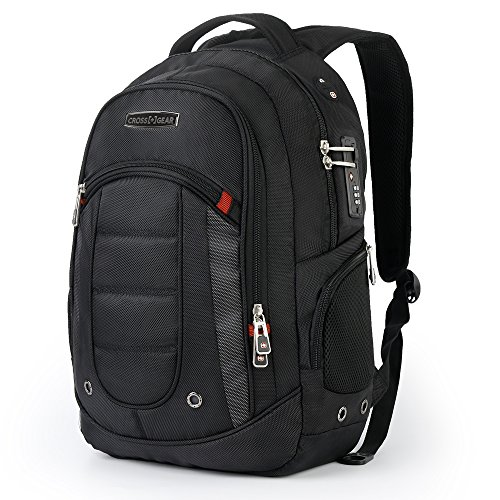 CrossGear Laptop Backpack with Combination Lock- Fits Most 1