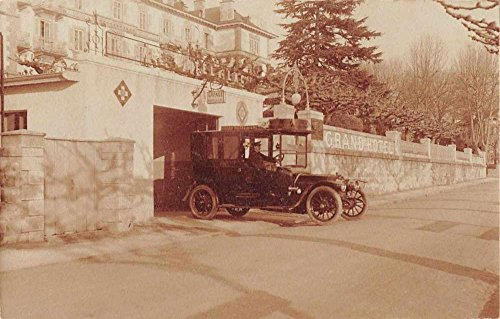 Grand Hotel du Lac Garage Old Automobile Car Real Photo Antique Postcard J73636 ()