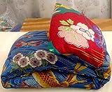 Microwave or Freeze Neck Pillow: KOI POND- Japanese Cotton-...
