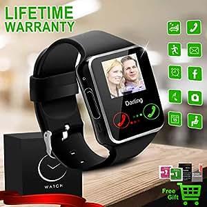 Reloj Inteligente Bluetooth Smartwatch Relojes Deportivos con Camara Smart Watch Whatsapp Pantalla Táctil Teléfonos Inteligentes Compatible iPhone Samsung ...