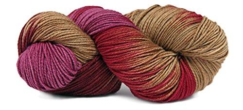 Fiesta Yarns Hand Dyed Boomerang Yarn, Rhubarb Fiesta Knitting Yarn