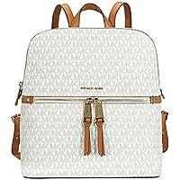 MICHAEL Michael Kors Rhea Medium Slim Backpack (Signature Vanilla)