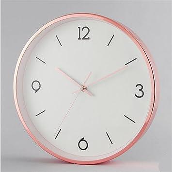 H&M Reloj de pared moderno creativo marco de metal silencioso reloj de pared sala de estar