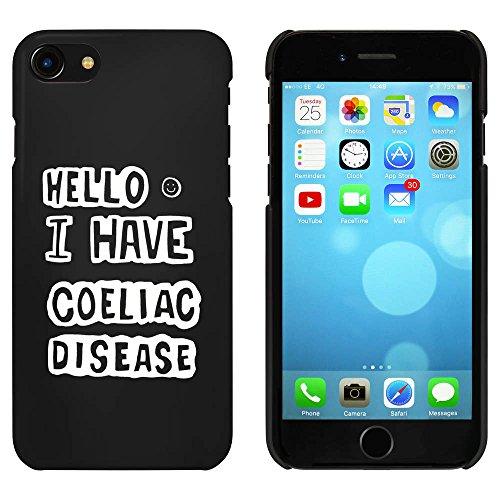 Noir 'I Have Coeliac Disease' étui / housse pour iPhone 7 (MC00080485)