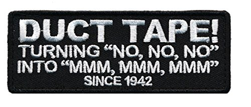 Patch Squad Men's Duct Tape Since 1942 Funny Quality Hilarious Embroidered Patch (4