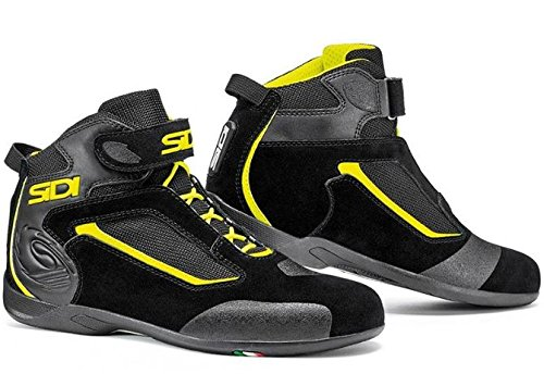 SIDI シディ GAS STREET BOOTS Black/Yellow 2017モデル ライディングブーツ ブラック/イエロー 46(約28cm) B074HVCFZR