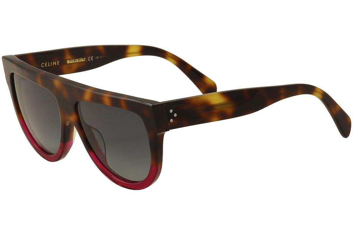 842f6c7db53 Amazon.com  Celine CL41026 S 23A Havana Fuchsia Shadow Round Sunglasses  Lens Category 3 S  Celine  Clothing