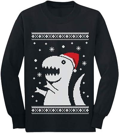 Kung Fu Santa Ugly Christmas Sweater Funny Toddler//Kids Long Sleeve T-Shirt