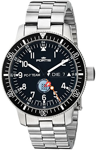 Fortis Men's 647.10.91 PC-7 M PC-7 Team Analog Display Automatic Self Wind Silver Watch