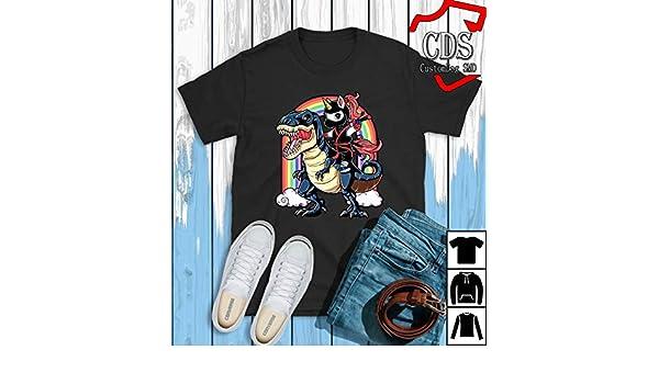 Amazon.com: Ninja dinosaurs rainbow T-Shirt, Birthday gift ...