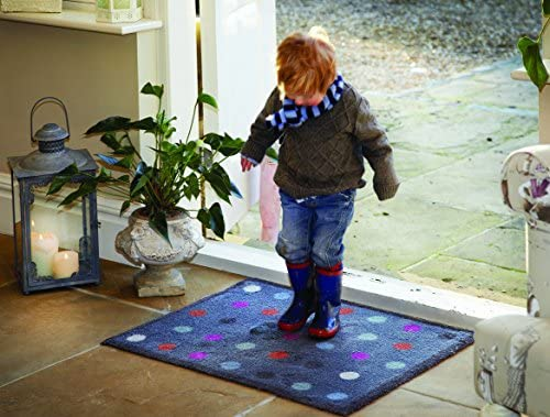 Bosmere Hug Rug Eco-Friendly Absorbent Dirt Trapping Indoor Washable Mat, 25.5 x 33.5 , Blue